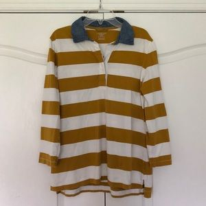 Lands' End Striped Collared Shirt
